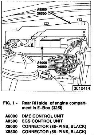 BMW 325 Transmission Control Module Removal Instructions